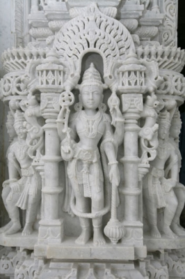 hindu temple white sculpture